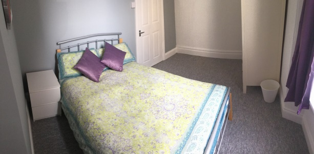 Bedroom in this Plymouth student flat