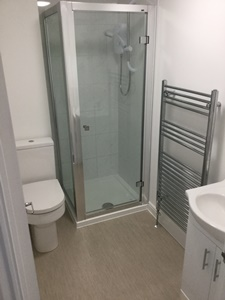 New shower room in this student flat