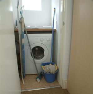 Picture of the utility room in this student flat