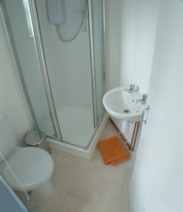 Shower room at this Plymouth student flat